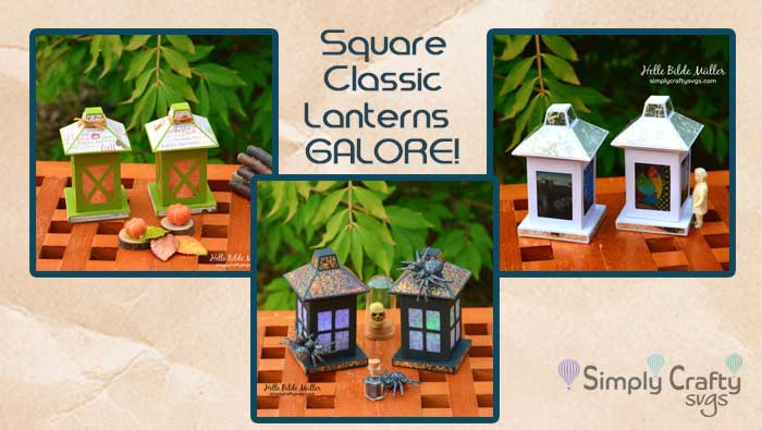 Square Classic Lanterns Galore by DT Helle