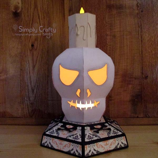 3D Skull Head Candle Holder SVG File