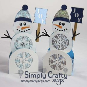 Wintery Snowman Box Card and Treat Box SVG File