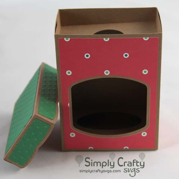 Disc Ornament Box with Lid 3 in SVG Fil
