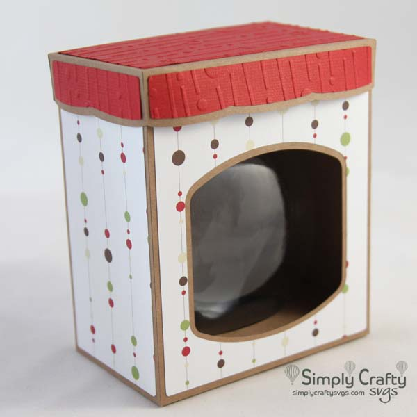 Disc Ornament Box with Lid (4 inches)