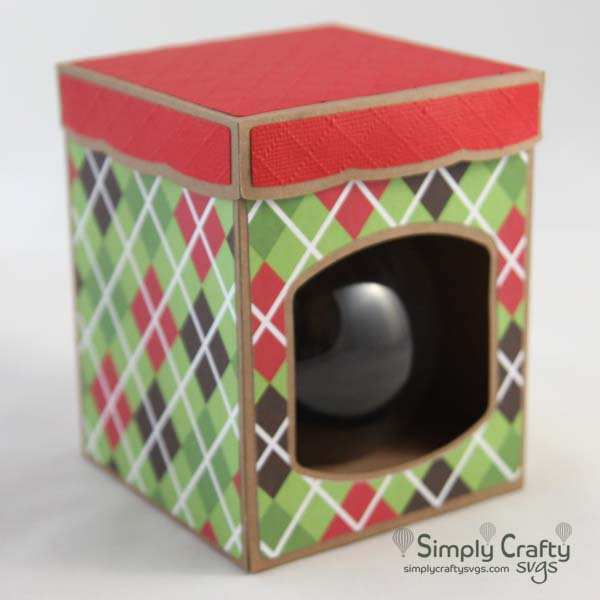 Round Ball Ornament Box with Lid 3.25 in. SVG File
