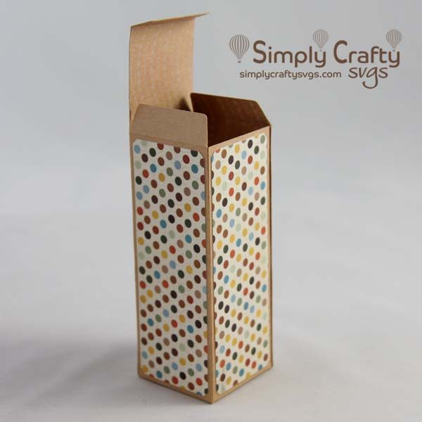 Tall Shot Glass Box SVG File