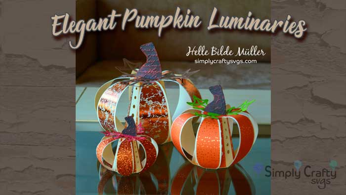 Elegant Pumpkin Luminaries by DT Helle