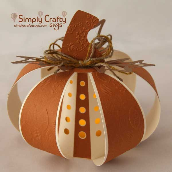 Fall Pumpkin Luminary SVG File