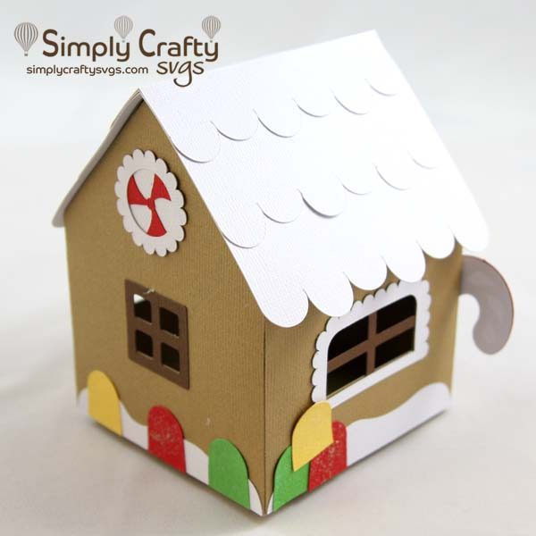 Gingerbread House Box Svg File Simply Crafty Svgs
