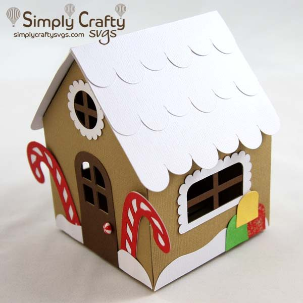 Gingerbread House Box SVG File