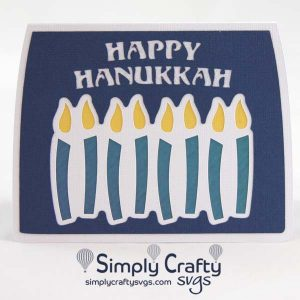 Hanukkah Candles Card SVG File