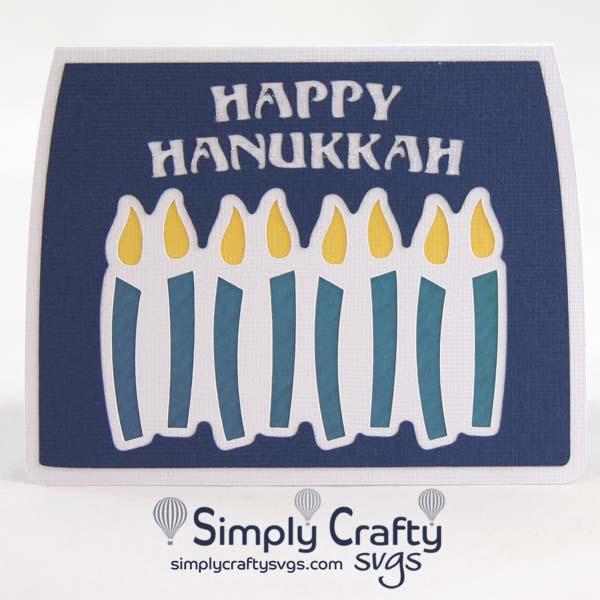 Hanukkah Candles Card SVG File