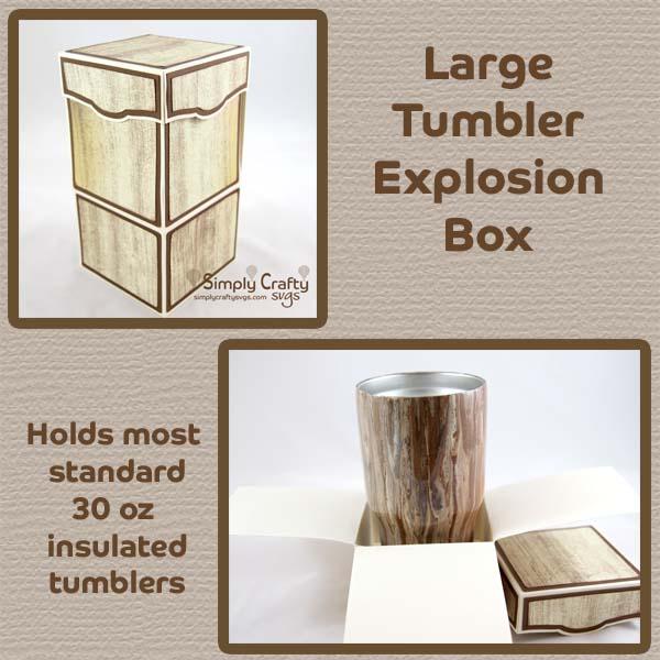 Large Tumbler Explosion Box SVG File