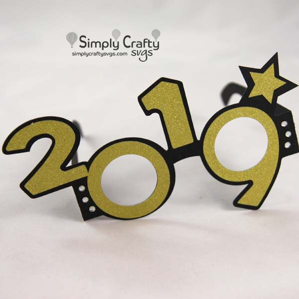 2019 New Years Glasses SVG File