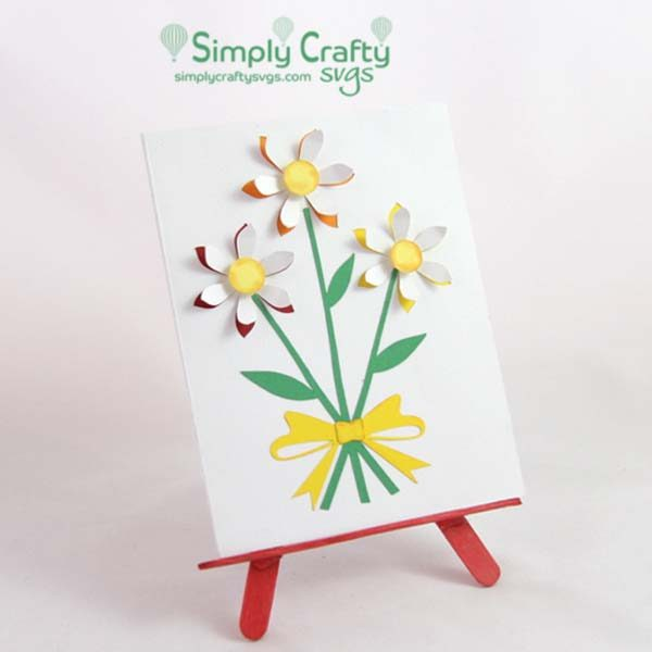 Bunch of Daisies Card SVG File
