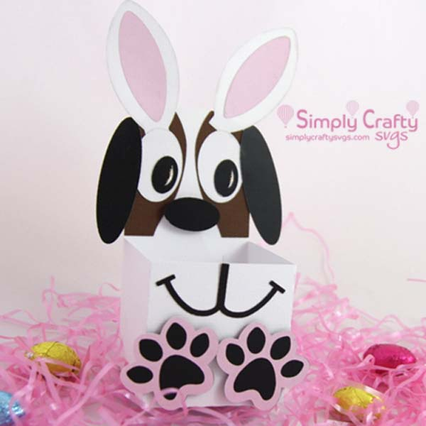 Bunny Dog Treat Box SVG File