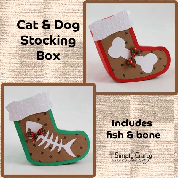 Cat and Dog Stocking Box SVG File