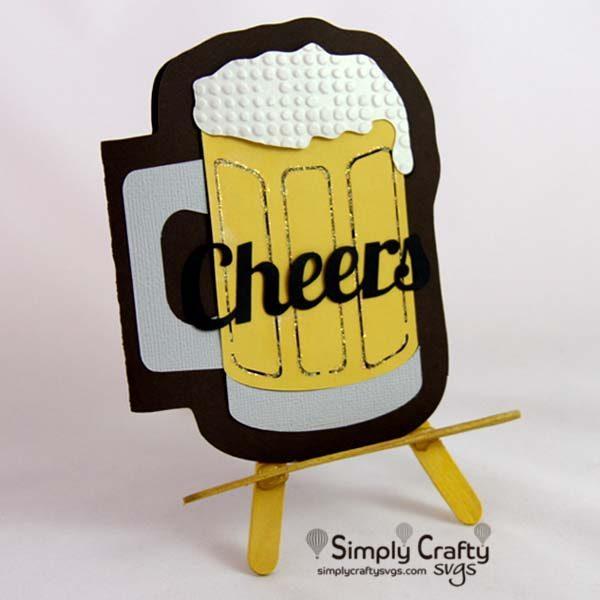 Frosty Beer Mug Card SVG File