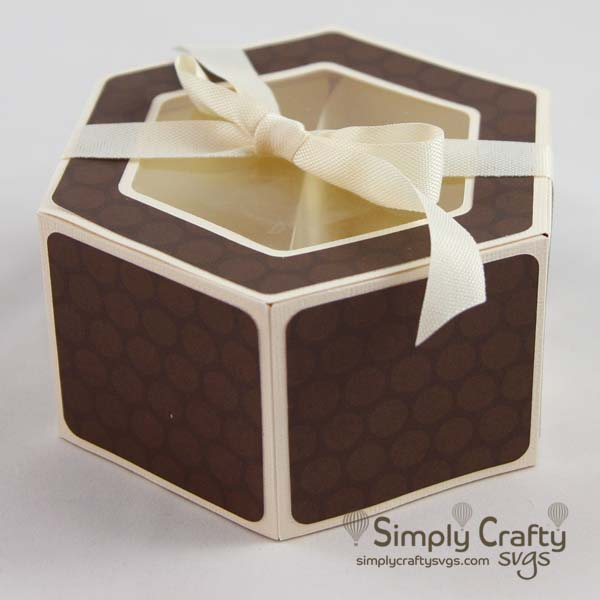 Hexagon Candy Box SVG File