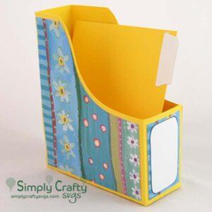 Magazine Style A2 Card Box SVG File