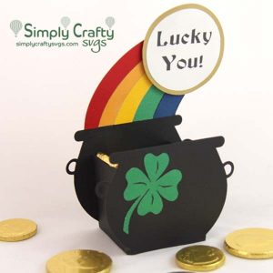 Pot of Gold Treat Box SVG File
