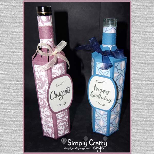 Wine Bottle Box SVG File