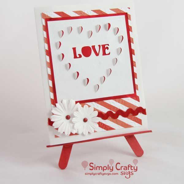 Free Heart Cutout Love Card SVG File