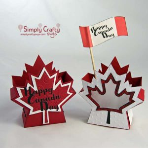 Canada Day Box and Lantern SVG File
