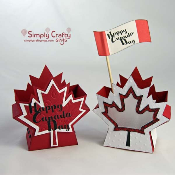 Canada Day Box and Lantern SVG File