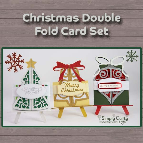 Christmas Double Fold Card SVG File