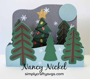 Christmas Tree Farm Box Card by DT Nancy