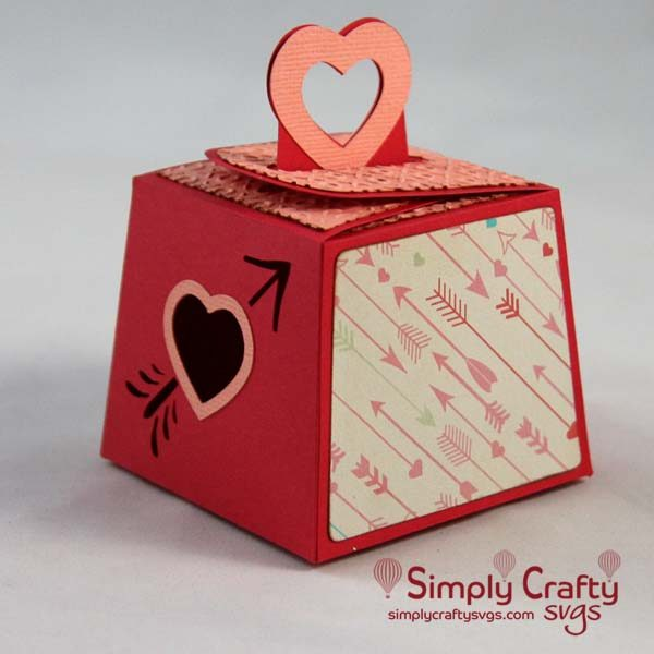 Cupid Heart Box with Handle