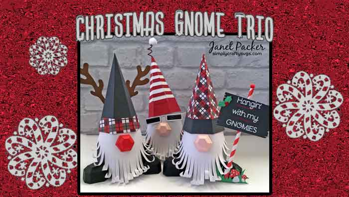 Christmas Gnome Trio by DT Janet