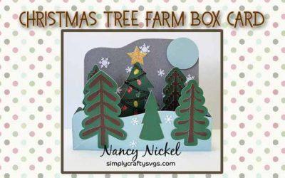 Christmas Tree Farm Box Card by DT Nancy