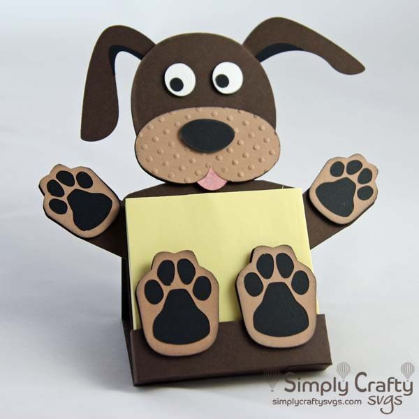 Dog Sticky Notepad Holder SVG File