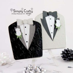 Gay Wedding Tuxedos Card SVG File