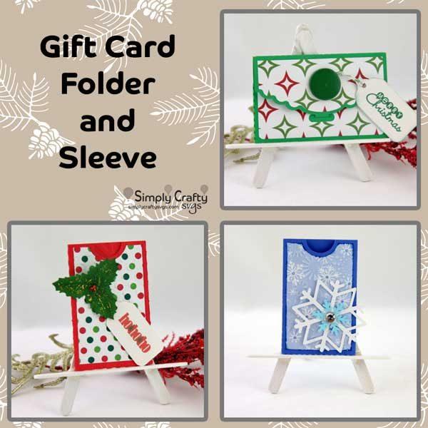 Gift Card Folder and Sleeve SVG File