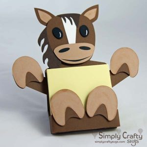 Horse Sticky Notepad Holder SVG File