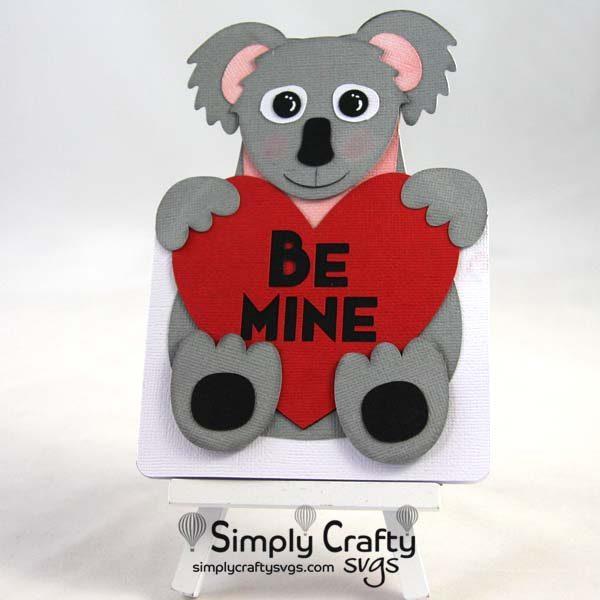Koala Valentine's Card SVG Fil