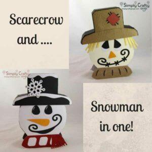 Reversible Scarecrow Snowman SVG File