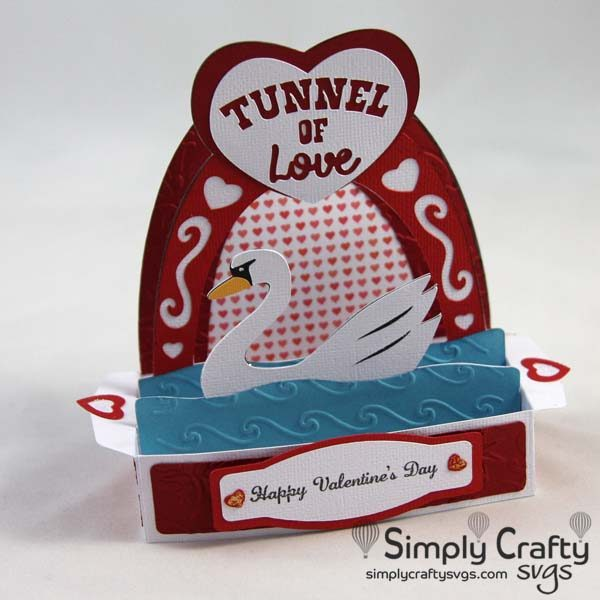 Tunnel of Love Box Card SVG FIle