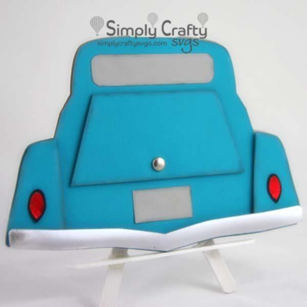 Classic Car Trunk Card SVG File