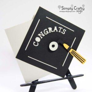 Graduation Cap Card SVG File