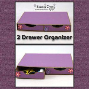 2 Drawer Organizer SVG File