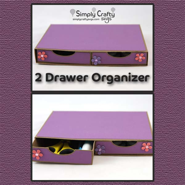 2 Drawer Organizer SVG File