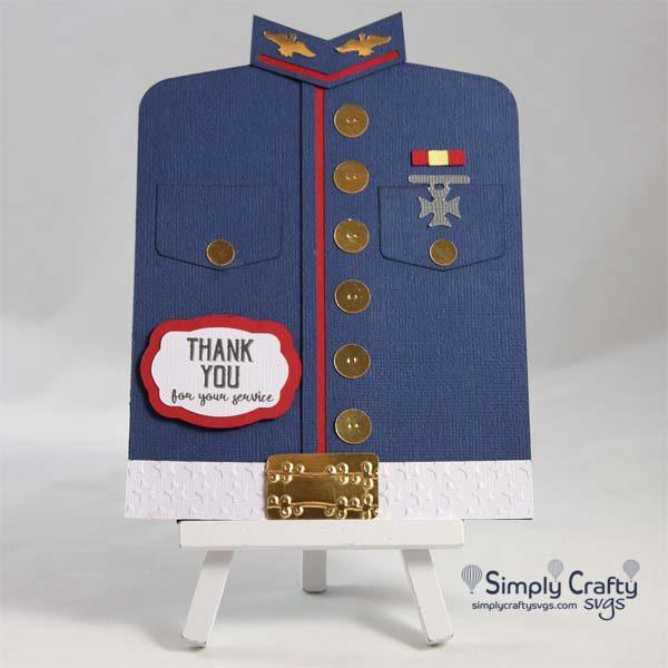Military Blues Uniform Card SVG File