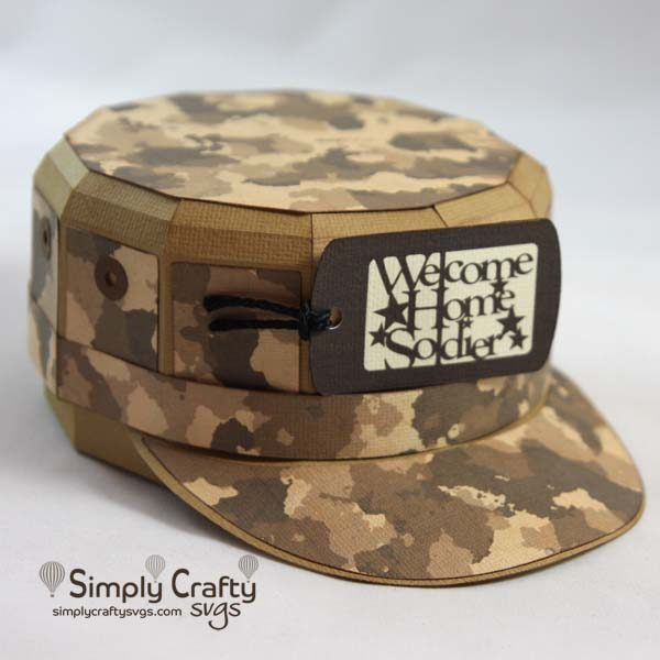 Military Fatigue Hat SVG File