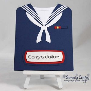 Sailor Uniform Card SVG File