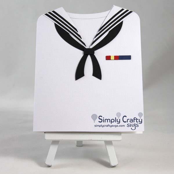 Sailor Uniform Card SVG File