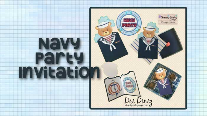 Navy Party Invitation by DT Dri