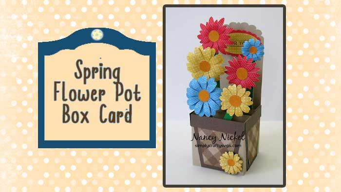 Spring Flower Pot Box Card by DT Nancy