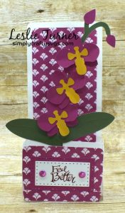 Get Well Orchid Box Card By DT Leslie