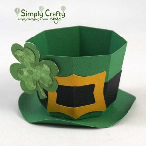 Leprechaun Hat Treat Box SVG File